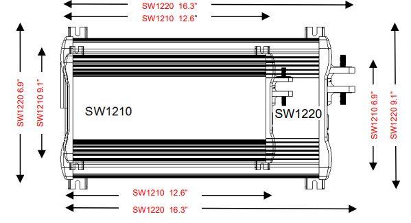 Cutogain Onduleur Solaire 3000/W//4000/W CC 12//24V /à AC 220V Convertisseur Onde Sinuso/ïdale Modifi/ée pour Voiture